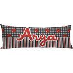Ladybugs & Stripes Body Pillow Case (Personalized)