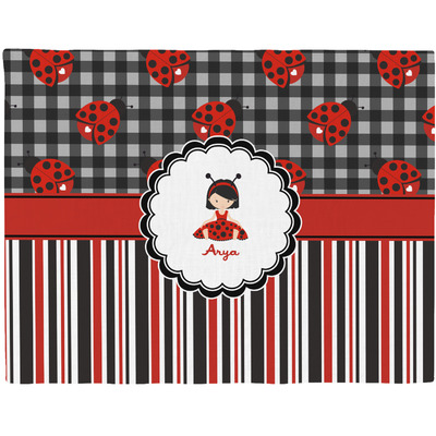 Ladybugs & Stripes Placemat (Fabric) (Personalized)