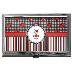 Ladybugs & Stripes Business Card Case