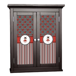Ladybugs & Stripes Cabinet Decal - Custom Size (Personalized)