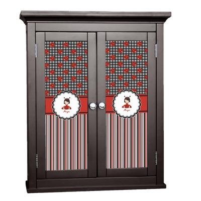 Ladybugs & Stripes Cabinet Decal - Medium (Personalized)