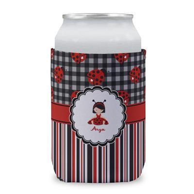 Ladybugs & Stripes Can Sleeve (12 oz) (Personalized)