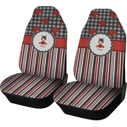 Ladybugs & Stripes Car Seat Covers (Set of Two) (Personalized)