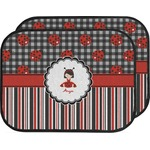 Ladybugs & Stripes Car Floor Mats (Back Seat) (Personalized)