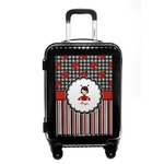 Ladybugs & Stripes Carry On Hard Shell Suitcase (Personalized)