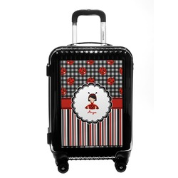 Ladybugs & Stripes Carry On Hard Shell Suitcase (Personalized)