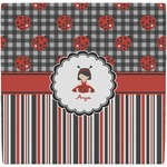 Ladybugs & Stripes Ceramic Tile Hot Pad (Personalized)