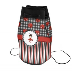 Ladybugs & Stripes Neoprene Drawstring Backpack (Personalized)