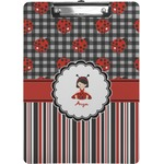 Ladybugs & Stripes Clipboard (Personalized)