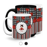 Ladybugs & Stripes Coffee Mugs (Personalized)