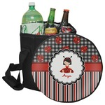 Ladybugs & Stripes Collapsible Cooler & Seat (Personalized)