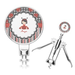 Ladybugs & Stripes Corkscrew (Personalized)