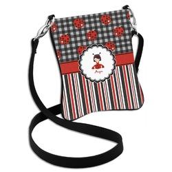 Ladybugs & Stripes Cross Body Bag - 2 Sizes (Personalized)