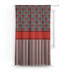 Ladybugs & Stripes Curtain (Personalized)