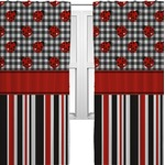Ladybugs & Stripes Curtains (2 Panels Per Set) (Personalized)