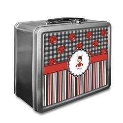 Ladybugs & Stripes Lunch Box (Personalized)