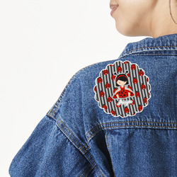 Ladybugs & Stripes Large Custom Shape Patch (Personalized)