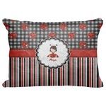 "Ladybugs & Stripes Decorative Baby Pillowcase - 16""x12"" (Personalized)"