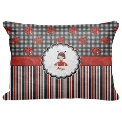 "Ladybugs & Stripes Decorative Baby Pillowcase - 16""x12"" (Personalized)"