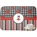 Ladybugs & Stripes Dish Drying Mat (Personalized)