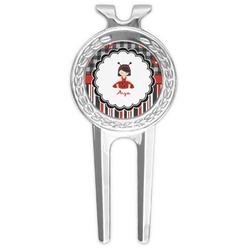 Ladybugs & Stripes Golf Divot Tool & Ball Marker (Personalized)