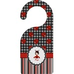 Ladybugs & Stripes Door Hanger (Personalized)