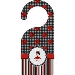 Ladybugs & Stripes Door Hanger (Personalized)