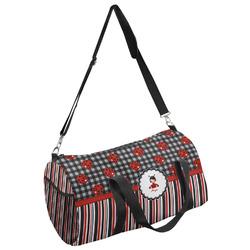 Ladybugs & Stripes Duffel Bag - Multiple Sizes (Personalized)