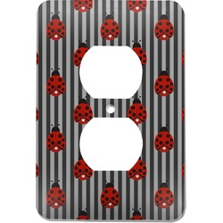Ladybugs & Stripes Electric Outlet Plate (Personalized)