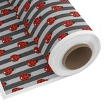 Ladybugs & Stripes Custom Fabric by the Yard (Personalized)