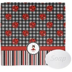 Ladybugs & Stripes Wash Cloth (Personalized)