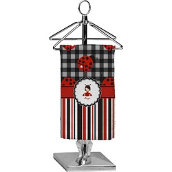 Ladybugs & Stripes Finger Tip Towel - Full Print (Personalized)