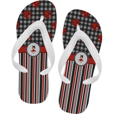 Ladybugs & Stripes Flip Flops (Personalized)