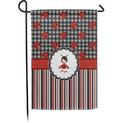 Ladybugs & Stripes Garden Flag - Single or Double Sided (Personalized)