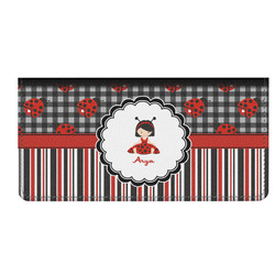 Ladybugs & Stripes Genuine Leather Checkbook Cover (Personalized)