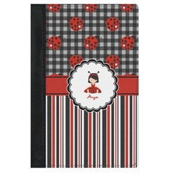 Ladybugs & Stripes Genuine Leather Passport Cover (Personalized)