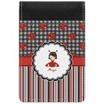 Ladybugs & Stripes Genuine Leather Small Memo Pad (Personalized)