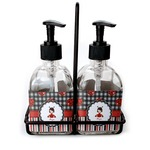 Ladybugs & Stripes Soap & Lotion Dispenser Set (Glass) (Personalized)