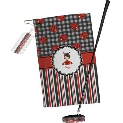 Ladybugs & Stripes Golf Towel Gift Set (Personalized)