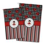 Ladybugs & Stripes Golf Towel - Full Print w/ Name or Text