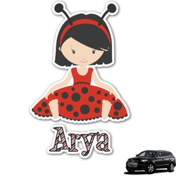 Ladybugs & Stripes Graphic Car Decal (Personalized)