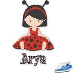 Ladybugs & Stripes Graphic Iron On Transfer (Personalized)