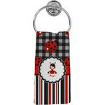Ladybugs & Stripes Hand Towel - Full Print (Personalized)