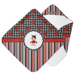 Ladybugs & Stripes Hooded Baby Towel (Personalized)