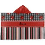 Ladybugs & Stripes Kids Hooded Towel (Personalized)