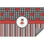 Ladybugs & Stripes Indoor / Outdoor Rug (Personalized)