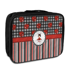 Ladybugs & Stripes Insulated Lunch Bag (Personalized)
