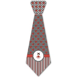 Ladybugs & Stripes Iron On Tie (Personalized)
