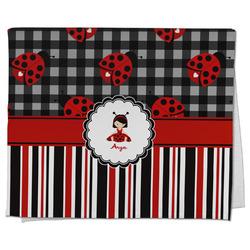 Ladybugs & Stripes Kitchen Towel - Full Print (Personalized)