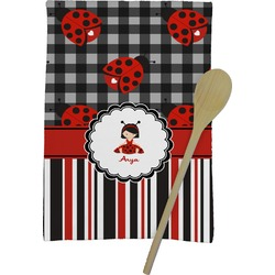 Ladybugs & Stripes Kitchen Towel - Full Print (Personalized)